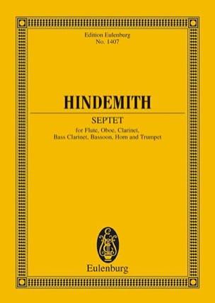Septett 1948 Paul Hindemith Partition Petit format - laflutedepan