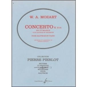 Concerto pour Hautbois en Ut majeur - KV 314 MOZART laflutedepan