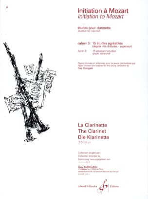 Mozart Wolfgang Amadeus / Dangain Guy - Initiation to Mozart - Cahier 3 - Clarinet - Sheet Music - di-arezzo.com