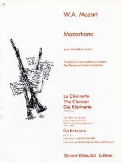 Mozart Wolfgang Amadeus / Dangain Guy - Mozartiana - Partitura - di-arezzo.it