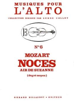 Noces - Air de Suzanne - MOZART - Partition - Alto - laflutedepan.com