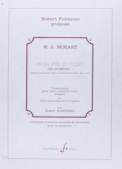 Non Piu Di Fiori - 2 Clarinettes-Piano MOZART Partition laflutedepan