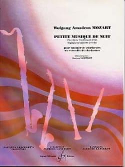Wolfgang Amadeus Mozart - Petite musique de nuit – Quatuor clarinettes - Partition - di-arezzo.fr
