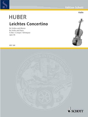 Adolf Huber - Leichtes Konzertino op. 36, G-dur - Partition - di-arezzo.fr