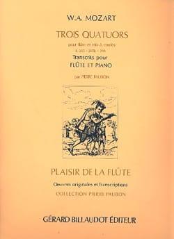 Wolfgang Amadeus Mozart - Trois Quatuors, K285, 285b, 298 - Partition - di-arezzo.fr