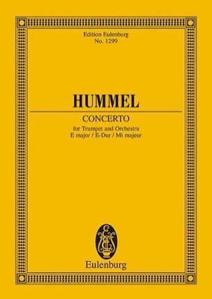 HUMMEL - Trompeten-Konzert E-Dur - Partition - di-arezzo.fr