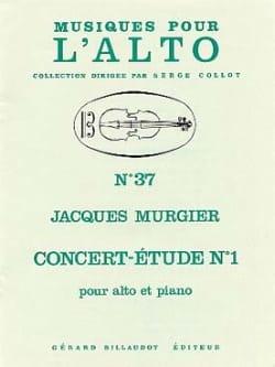 Concert-étude n° 1 - Jacques Murgier - Partition - laflutedepan.com