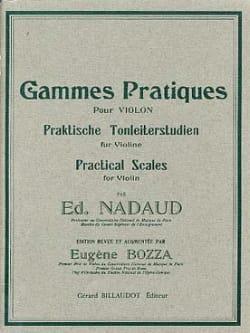 Gammes pratiques Edouard Nadaud Partition Violon - laflutedepan
