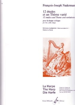 François-Joseph Naderman - 12 Studies and a Varied Theme - Sheet Music - di-arezzo.co.uk