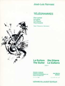 Jose-Luis Narvaez - Télégrammes - Partition - di-arezzo.fr