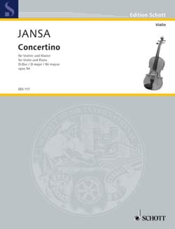 Concertino D-Dur - Adolf Jansa - Partition - Violon - laflutedepan.com