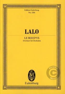 Le Roi d'Ys, Ouverture Edouard Lalo Partition laflutedepan