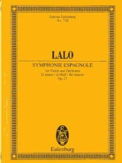 Symphonie Espagnole en Ré Mineur Op. 21 - LALO - laflutedepan.com