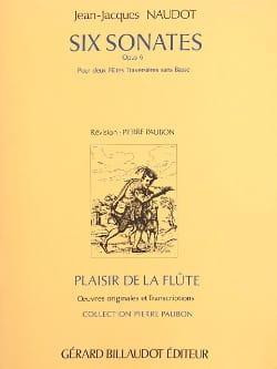6 Sonates op. 6 - 2 Flûtes Jean-Jacques Naudot Partition laflutedepan