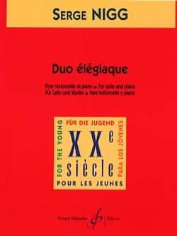 Duo élégiaque - Serge Nigg - Partition - laflutedepan.com