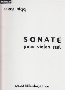 Sonate - Violon seul - Serge Nigg - Partition - laflutedepan.com