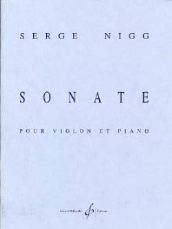 Sonate - Serge Nigg - Partition - Violon - laflutedepan.com