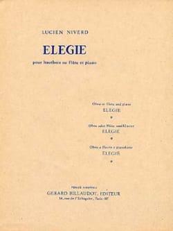Elégie - Lucien Niverd - Partition - Hautbois - laflutedepan.com