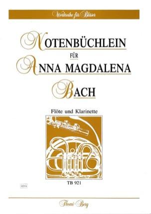 BACH - Notenbüchlein für Anna Magdalena Bach - Flöte Klarinette - Partition - di-arezzo.fr
