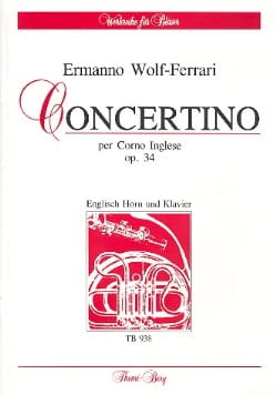 Ermanno Wolf-Ferrari - Concertino op. 34 - English Horn Klavier - Sheet Music - di-arezzo.co.uk