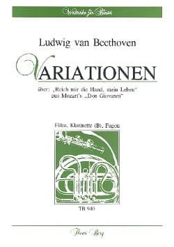 Ludwig van Beethoven - Variationen über Reich mir die Hand, mein Leben –Fl Klar Fag - Partition - di-arezzo.fr