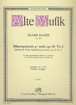 Bläserquintett G-Moll Op. 56 Nr. 2 Franz Danzi Partition laflutedepan
