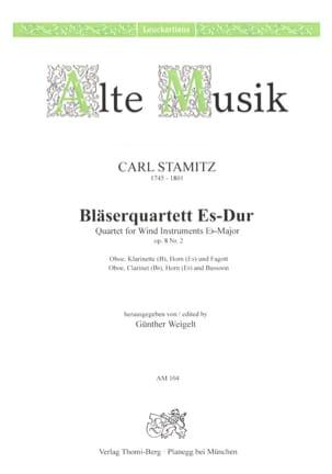 Carl Stamitz - Bläserquartett Es-Dur op. 8 Nr. 2 - Stimmen - Partition - di-arezzo.fr