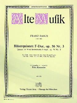 Franz Danzi - Bläserquintett F-Dur op. 56 Nr. 3 –Stimmen - Partition - di-arezzo.fr