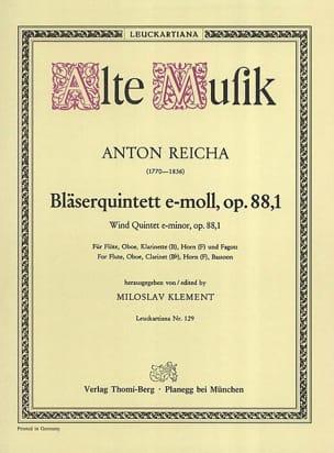 Bläserquintett op. 88 Nr. 1 e-moll -Stimmen REICHA laflutedepan
