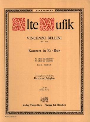 Konzert für Oboe und Orchester Es-Dur BELLINI Partition laflutedepan