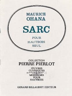 Sarc - Maurice Ohana - Partition - Hautbois - laflutedepan.com
