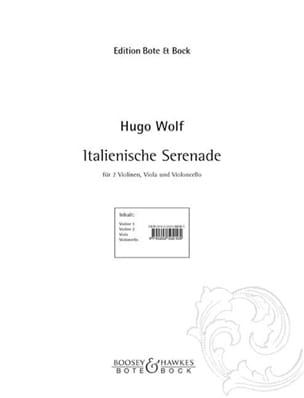 Hugo Wolf - Italienische Serenade - Partition - di-arezzo.fr