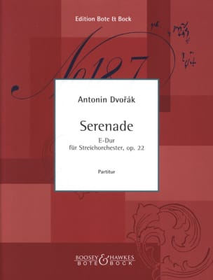 DVORAK - Serenade E-Dur op. 22 - Partitur - Partition - di-arezzo.co.uk