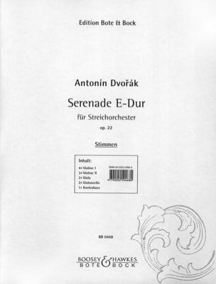 DVORAK - Serenade E-Dur op. 22 - Stimmen - Sheet Music - di-arezzo.co.uk