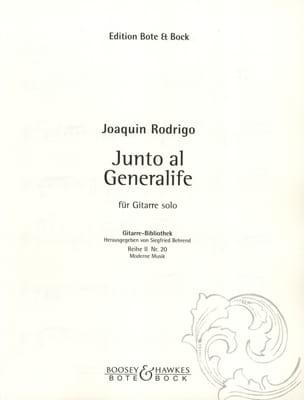 Junto al generalife - RODRIGO - Partition - Guitare - laflutedepan.com