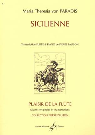 Sicilienne - Flûte Maria Theresia von Paradis Partition laflutedepan