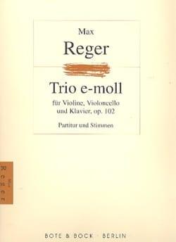 Trio op. 102 -Partitur + Stimmen Max Reger Partition laflutedepan