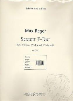 Sextett F-Dur op. 118 -Stimmen Max Reger Partition laflutedepan