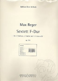 Max Reger - Sextett F-Dur op. 118 –Stimmen - Partition - di-arezzo.fr