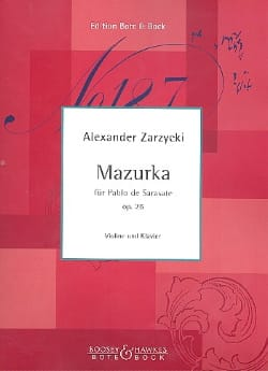 Mazurka für Pablo de Sarasate op. 26 - laflutedepan.com