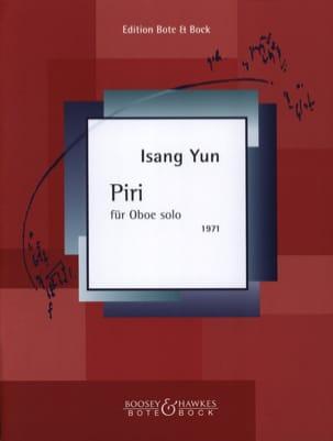 Isang Yun - Piri für Oboe solo - Partition - di-arezzo.fr