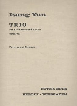 Isang Yun - Trio for Flöte, Oboe and Violine - Partitur Stimmen - Sheet Music - di-arezzo.com