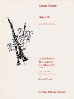 Claude Pascal - Capriccio - Partition - di-arezzo.fr