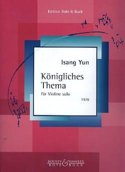 Königliches Thema Isang Yun Partition Violon - laflutedepan