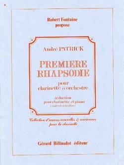 André Patrick - Rhapsodie n° 1 - Partition - di-arezzo.fr