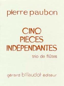 5 Pièces indépendantes Pierre Paubon Partition laflutedepan