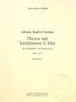 Johann Baptist Vanhal - Thema mit Variationen C-Dur - Partition - di-arezzo.fr