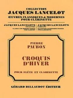 Pierre Paubon - Croquis d'hiver - Partition - di-arezzo.fr