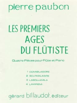 Les premiers âges du flûtiste - Pierre Paubon - laflutedepan.com