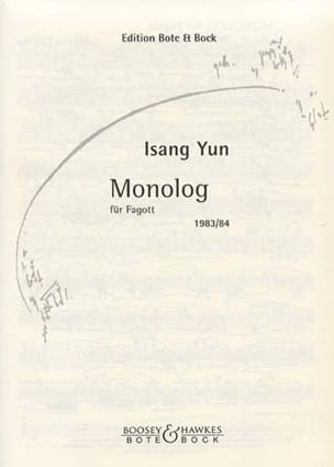 Isang Yun - Monolog 1983/84 - Fagott - Sheet Music - di-arezzo.co.uk